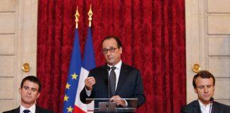 Manuel Valls Hollande et Emmanuel Macron