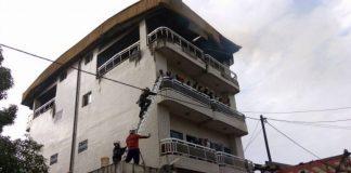 Incendie à Conakry Imeuble