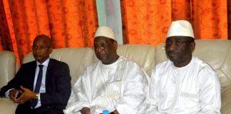Cellou Dalein Diallo ufdg, Lansana Kouyate PEDN et Sidya Touré de l'ufr