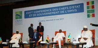 Sommet OMVS à Conakry Alpha Condé, Boubacar Keita, Macky Sall et Ould Abdel Aziz à Conakry