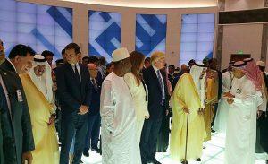 Alpha Conde, Donald Trump et Mélania à Riyad