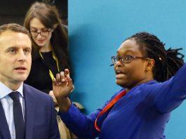 Emmanuel Macron et Sibeth Ndiaye