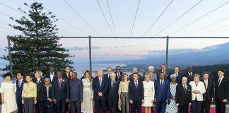 Sommet du G7 Alpha Conde présent
