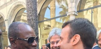 Alpha Conde et Emmanuel Macron