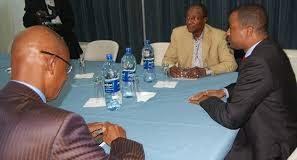 Alpha Condé, Tibou Kamara et Cellou Dalein