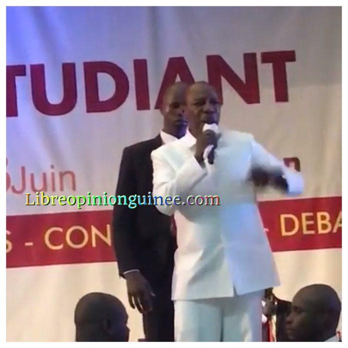 Alpha Conde aux étudiants guineens