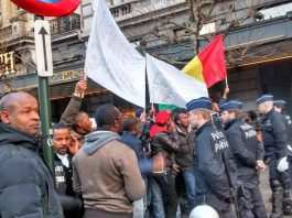 Manifestations des Guinéens à bruxelles contre Alpha Condé