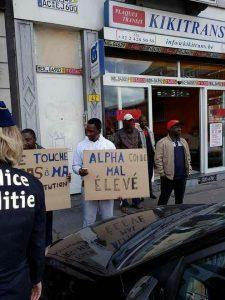 Manifestations contre Alpha Condé à Bruxelles