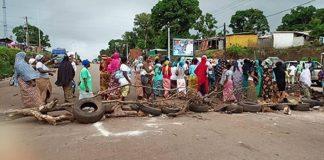 Manifestations des femmes à Kaporo-rails-Guinée