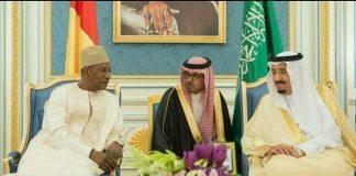 Alpha Conde et le Roi d'Arabie saoudite