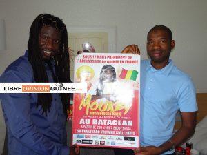 L'artiste Mouckby et Macka Baldé