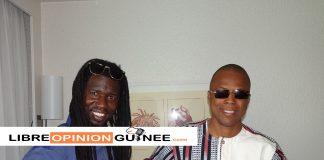 L'artiste Mouckby et le ministre des sports et de la culture Siaka Barry