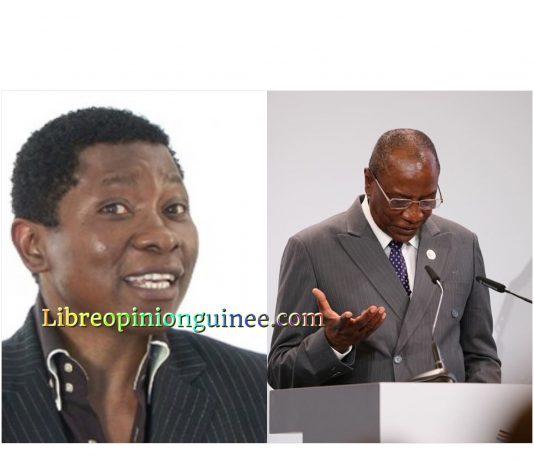 Rémy N'gono et Alpha Condé