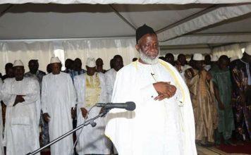 L'imam Mamadou Saliou Camara à sekhoutoureya pour la fête de l'Aid El-KEBIR