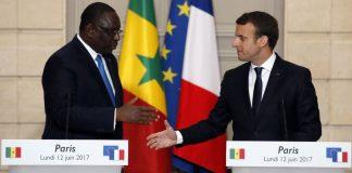 Macky Sall et Emmanuel Macron à l'Elysée
