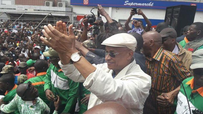 Cellou Dalein Diallo au meeting de l'opposition républicaine à kaloum