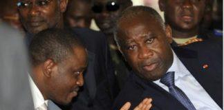 L'ex-président Ivoirien Laurent Gbagbo et le premier ministre Guillaume Soro