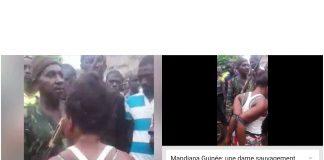 Mandiana Guinée une dame sauvagement ligotée pour tentative de vol