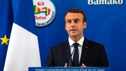 Emmanuel Macron à Bamako