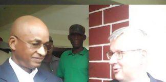 Cellou Dalein Diallo et Matthias Veltin Ambassadeur de l'Allemagne en Guinée