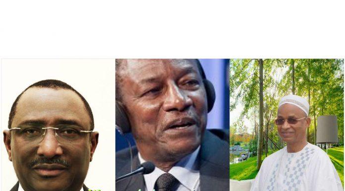 Sidya Touré, Alpha Condé et Cellou Dalein Diallo