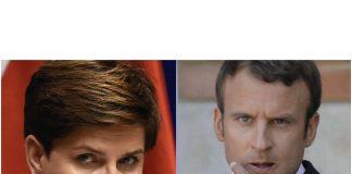 Emmanuel Macron et la première ministre de Pologne