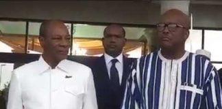 Alpha Condé à Ouagadougou avec Mark Christian Kaboré