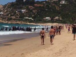 Migrant sur une plage espagnole
