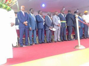 Cellou Dalein, Sidya Touré, Soumaila Cisse et Alhassane Ouattara à Abidjan au congrès du RDR