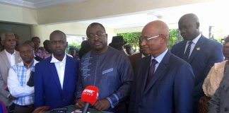 Salifou Kébé President de la CENI et Cellou Dalein Diallo