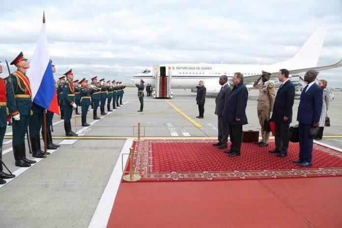 Alpha Conde en visite d'Etat à Moscou