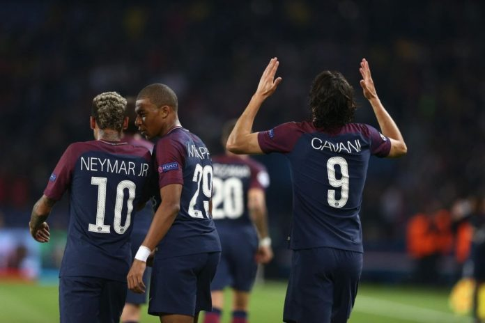 Neymar, M'bappé Kilian et Cavani