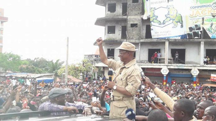 Cellou Dalein Diallo au carrefour Bambeto 04 octobre 2017