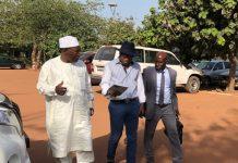Papa Koly, Moussa Dadis Camara et Makanera à Ouagadougou