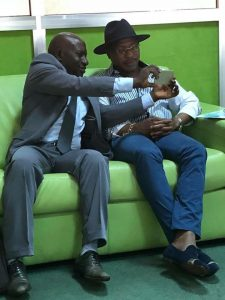 Makanera et Moussa Dadis Camara à Ouagadougou