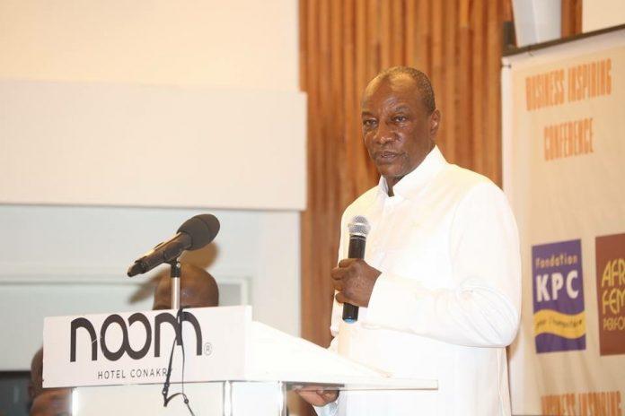 Alpha Conde à l'hôtel Noom de Conakry