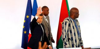 Emmanuel Macron et marck Christian Kaboré a Ouagadougou
