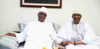 Amadou Toumani Touré et Ibrahima Boubacar Keita à Bamako