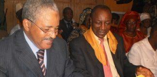 Bah Ousmane et Alpha Conde à la signature d'une alliance électorale en 2010