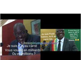 Ibrahima Kalil Konaté k au carré et Fode oussou Fofana ufdg