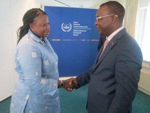 Sekouba Konaté et Fatou Ben Souda a la CPI