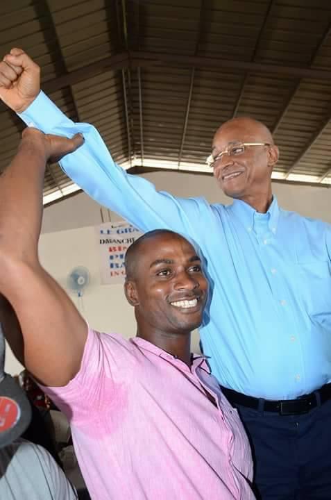 Cellou Dalein Diallo et Baba Alimou au siège de l'ufdg