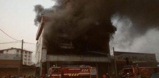 Incendie d'un immeuble à Conakry minière
