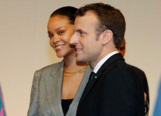 Rihanna et Emmanuel Macron à Dakar