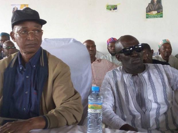 Cellou Dalein Diallo Et Khalifa Gassama Diaby au siège de l'ufdg
