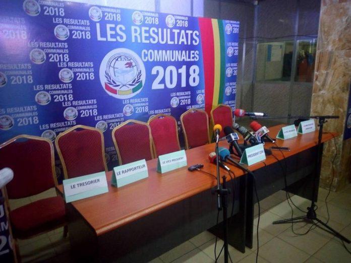 Siège de la CENI Guinée. Résultats partiels des communales de février 2018