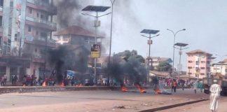 Manifestations sur l'axe Hamdallaye bambeto Cosa