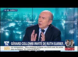 Invité sur BFMTV, le ministre de l'Intérieur Gérard Collomb