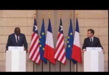 Conférence de presse de Macron avec George Weah