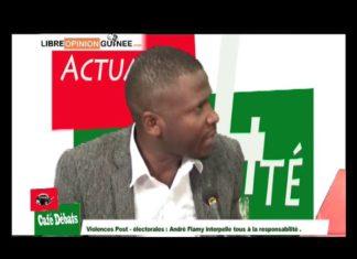 André Flamy dans café débat